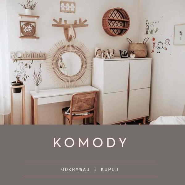 Nowoczesne komody w stylu skandynawskim i loftowym do salonu do sypialni do pokoju dziecięcego