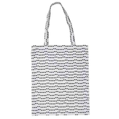 Biało-czarna torba na zakupy