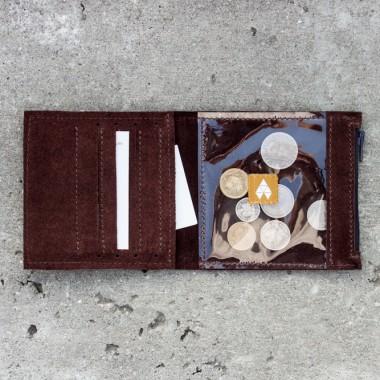 Brązowy mini portfel