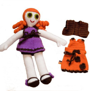 Cudna zabawka szydełkowa w oryginalnych kolorach.