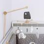 Słoniki - karuzela do łóżeczka z obrotową pozytywką