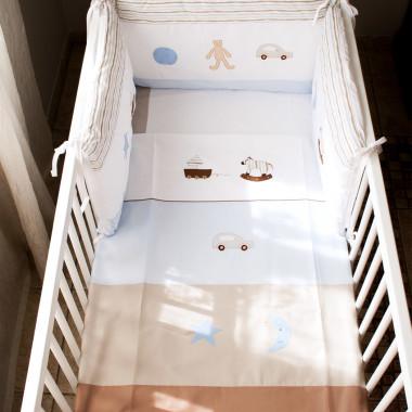 Ulubione zabawki - ochraniacz na boki łóżeczka