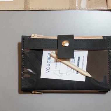 Pocket BIG / NERO LI - czarny portfel skórzany