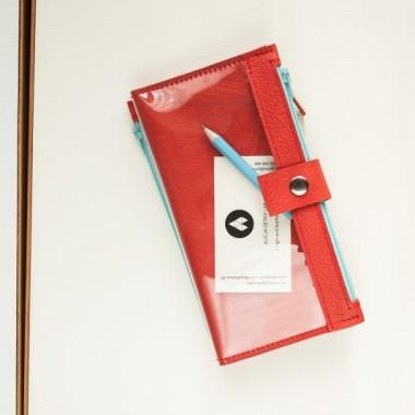 Portfel - Pocket MAXI / RED SKY- skóra