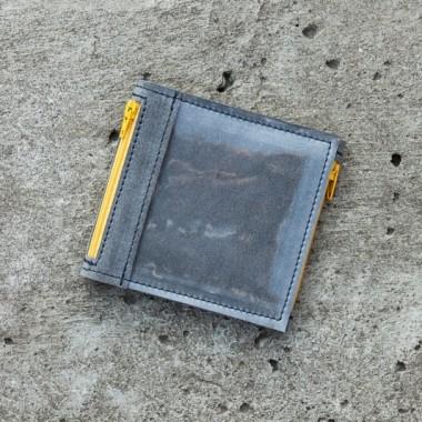 Pocket MINI / Gray Y portfel ASlicja Getka Lab- idealny na prezent