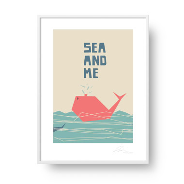 """Plakat """"Sea and Me"""" Wieloryb"""