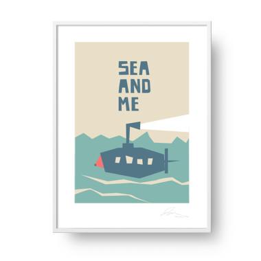 """Plakat """"Sea and Me"""" Łódź podwodna"""