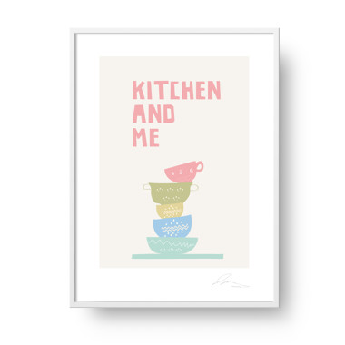 "Plakat ""Kitchen and Me""- kolorowy plakat do kuchni/ jadalni."