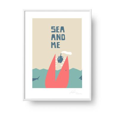 """Plakat """"Sea and Me"""" Potwór"""