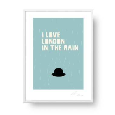 I love London in the Rain plakat- Wiewiórka i Spółka.
