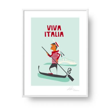 """Plakat """"Viva Italia"""""""