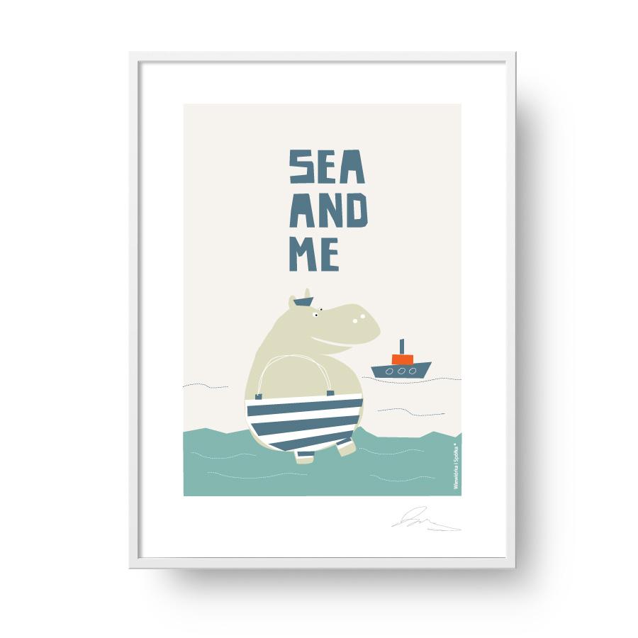 Przepiękny Unikatowy Plakat Grafika W Stylu Skandynawskim