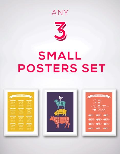Dowolny zestaw 3 plakatów A3 - seria skandynawska
