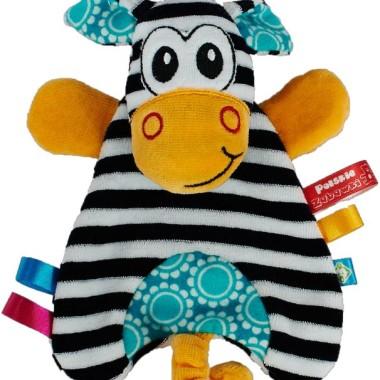 Milutka i mięciutka pacynka Zebra