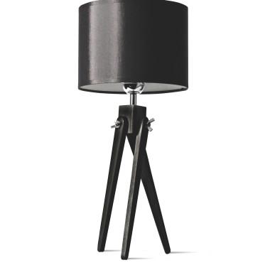 LW16-05-19 Lampa nocna sztalugowa, trójnóg- czarna.