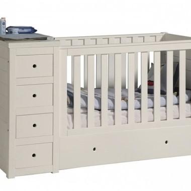 Paso Doble - łóżeczko 120x60 cm z komodą i przewijakiem