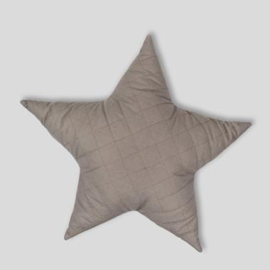 Gwiazda - pikowana poduszka ozdobna grafit