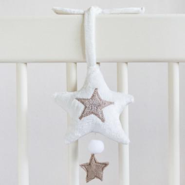 Gwiazda - zawieszka do wózka, fotelika, łóżeczka z pozytywką