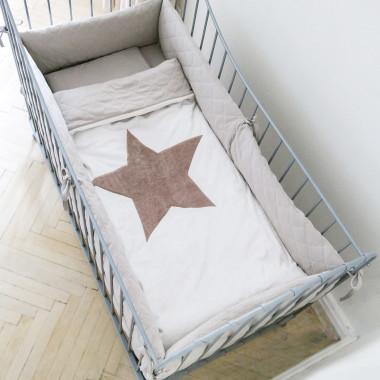 Gwiazda - miękki, pikowany pled 120x90 cm
