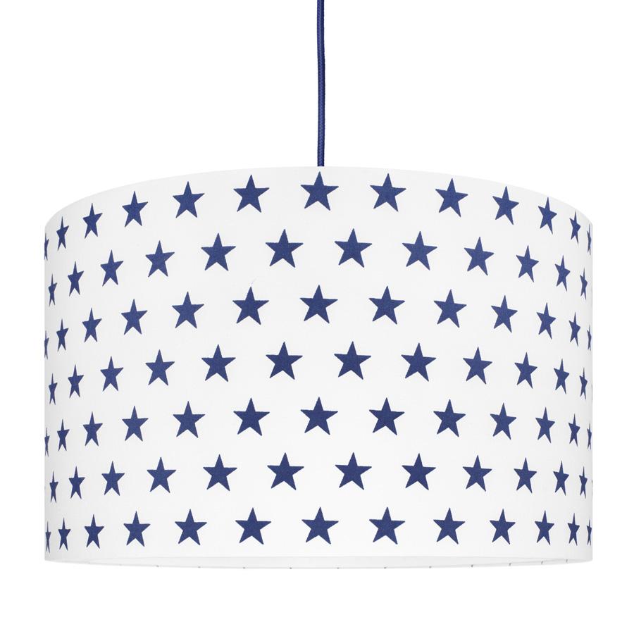 Abażur/lampa sufitowa w gwiazdki granatowe