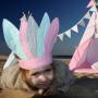 Pióropusz Indiański Ajku Pink Mint Grey
