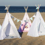 Namiot indiański Tipi idealny do zabawy w domu, tarasie oraz w plenerze.