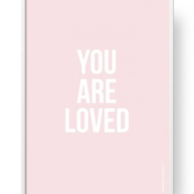 "Plakat ""You Are Loved - Pink"""