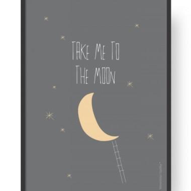 "Plakat ""Moon - Grey"""