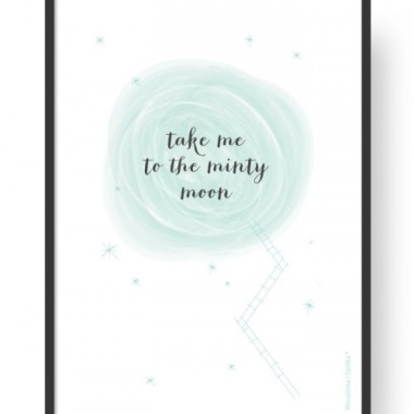 "Plakat ""Moon - White"""
