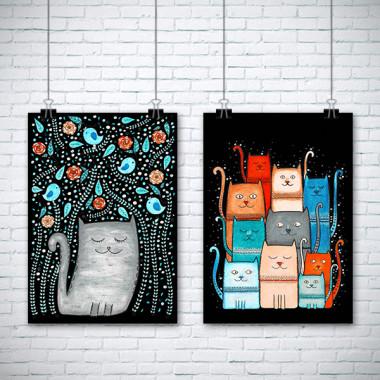 Obrazek na ścianę z kotami