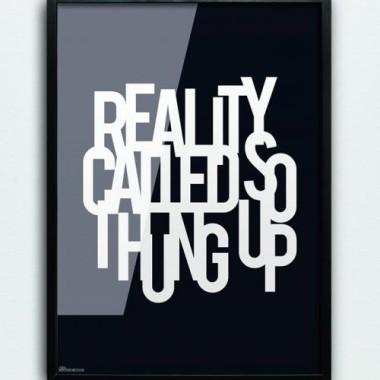 Grafika/ plakat czarny z białym napisem do nowoczesnego wnętrza-loft, scandi.