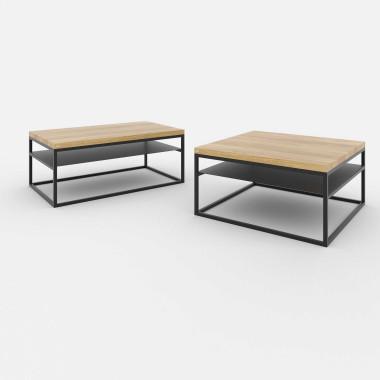 Stolik kawowy prostokątny 100x60 lub kwadratowy 80x80 i 53x53
