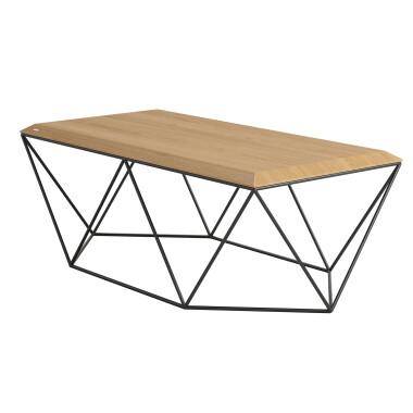 TULIP PROSTOKĄTNY stolik kawowy.  Prostokątny stolik kawowy do sofy o ciekawej geometrycznej podstawie.