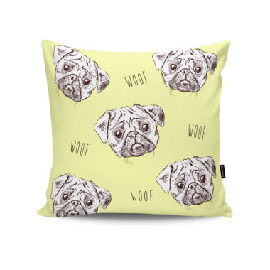 Poduszka - Pugs in Yellow