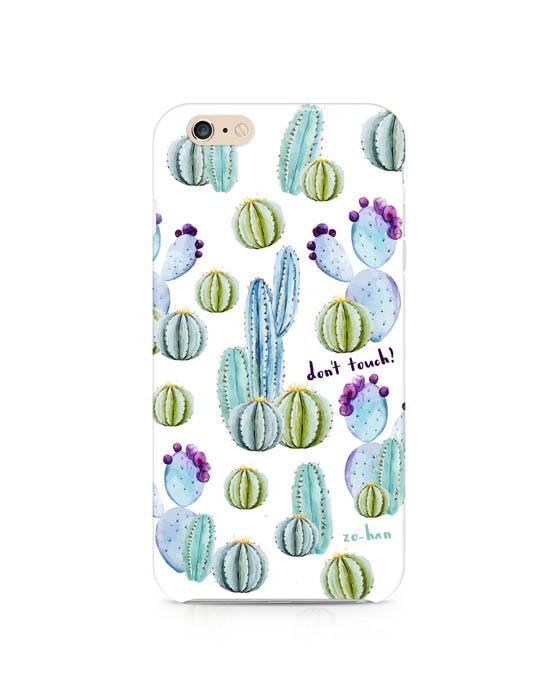 Hard-Case- etui do telefonu Cactus (Don`t touch!)