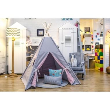 Szara lekkość - tipi - namiot do pokoju dziecka