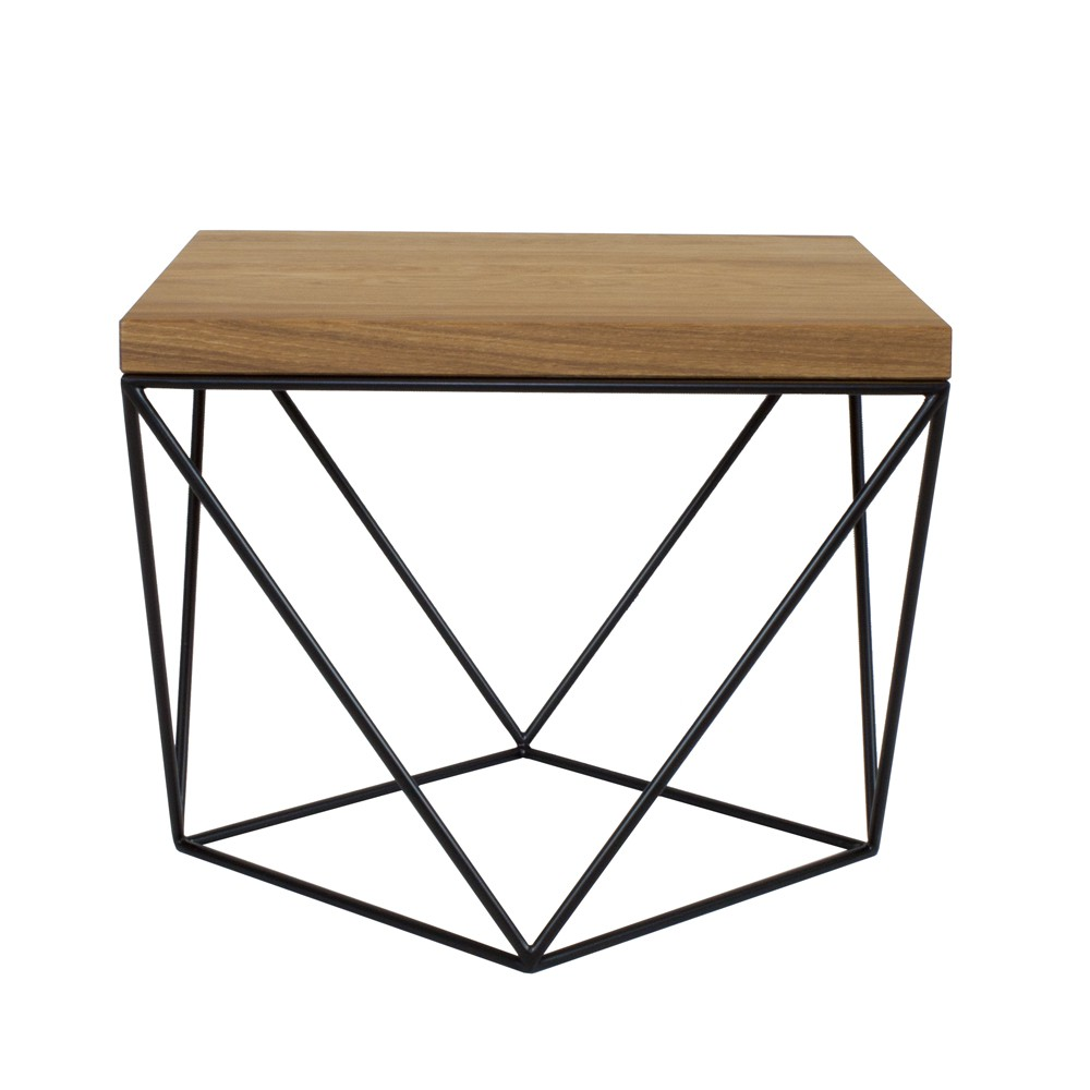 TULIP WOOD to minimalistyczny stolik kawowy o ciekawiej geometrycznej formie
