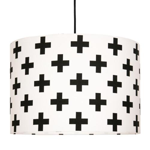 Lampa sufitowa krzyżyki czarne