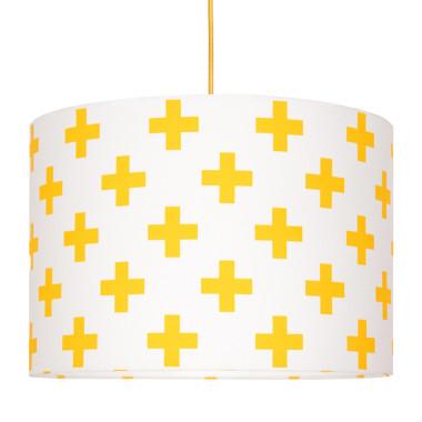 Lampa sufitowa krzyżyki żółte