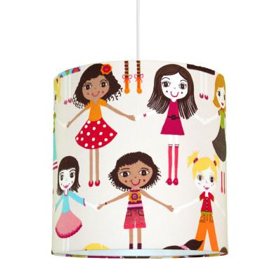 Lampa sufitowa laleczki. Abażur do pokoju dziewczynki.