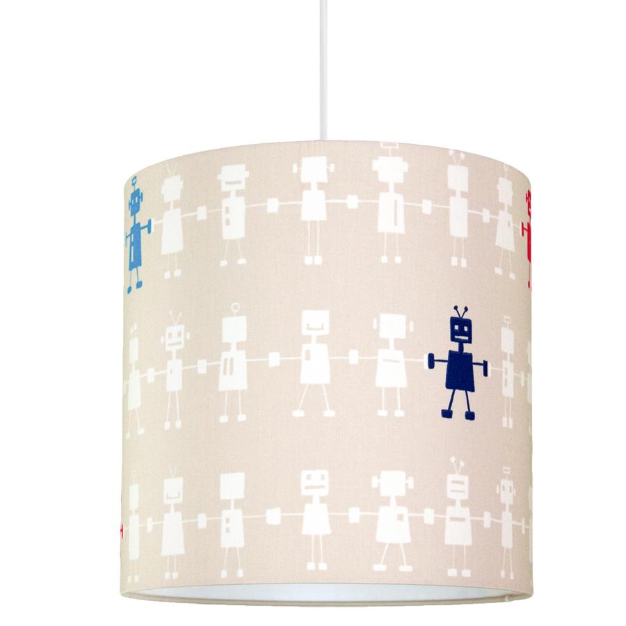 Lampa sufitowa roboty. Abażur do pokoju dziecka.