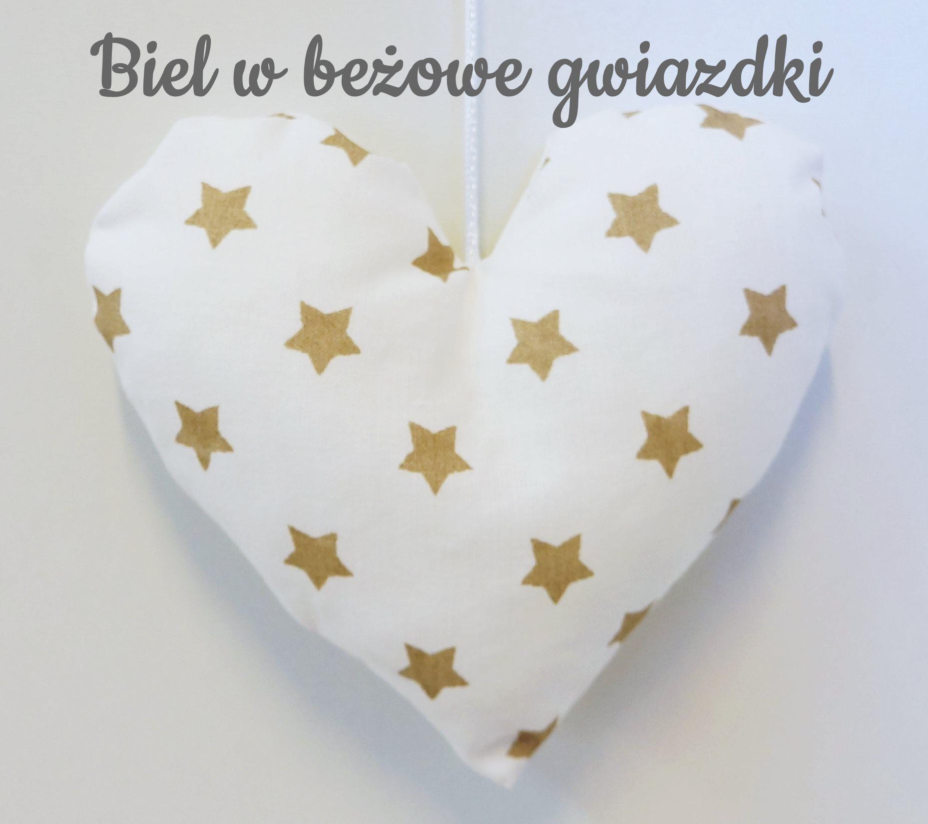 Śliczne zawieszki w kształcie serc o wielkości 15cm do pokoju dziecka.Dolly.Beżowo-białe serduszko.