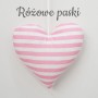 Serduszko-zawieszka w różowe paseczki