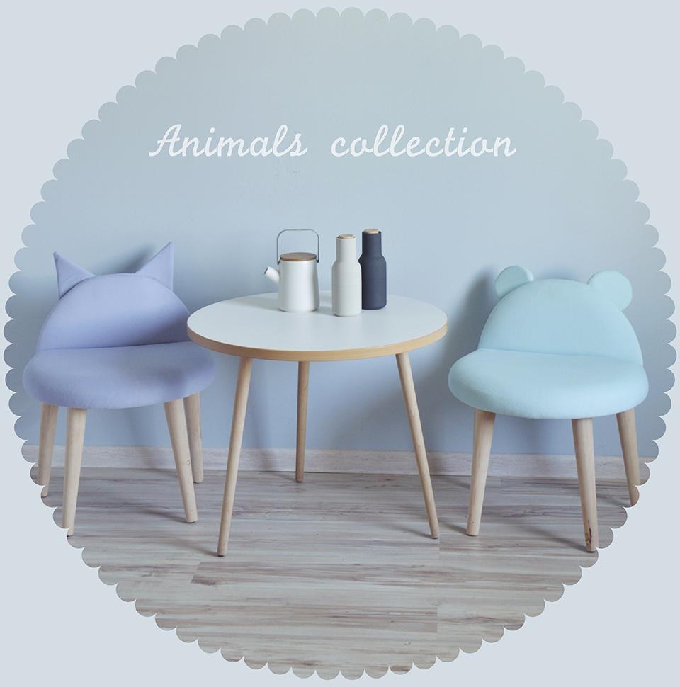 Stołki Animals idealne do przedpokoju, salonu, poczekalni czy pokoju dziecka