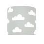 Kinkiet w chmurki białe na szarym tle.youngDeco.