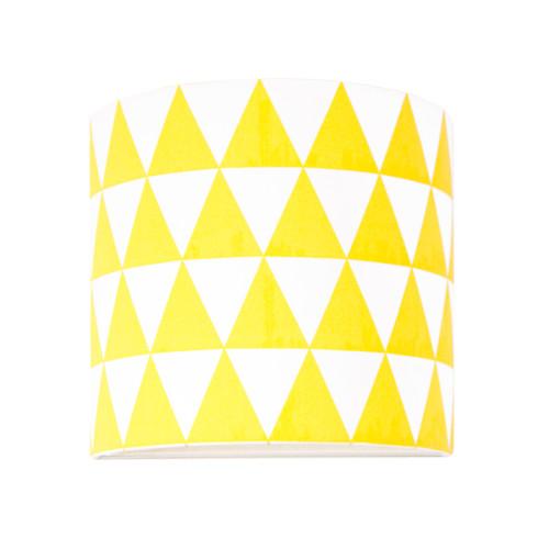 Kinkiet w trójkąty żółte