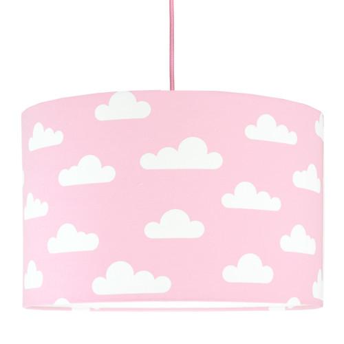 Abażur/ lampa do pokoju dzieckaw chmurki-różowy.