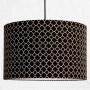 Abażur - Lampa sufitowa czarna z wzorem koniczyny marokańskiej - drobny wzór.