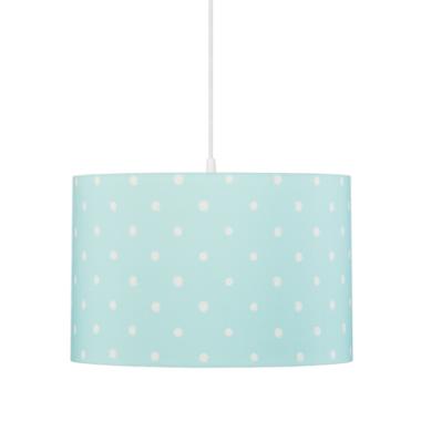 Oryginalna lampa wisząca/ żyrandol do pokoju dzieci z kolorowym abażurem w kropki.