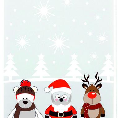 Roleta mini Rudolf. Roleta na święta do pokoju dziecka.